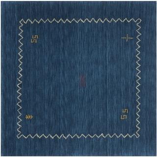 Safavieh Handmade Himalaya Blue Wool Gabbeh Area Rug (8' Square)