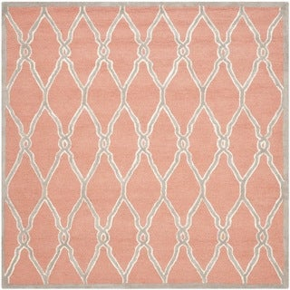 Safavieh Hand-Tufted Cambridge Coral/ Ivory Wool Rug (8' Square)