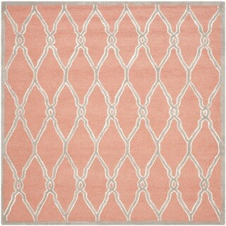 Safavieh Hand-Tufted Cambridge Coral/ Ivory Wool Rug - 8' Square