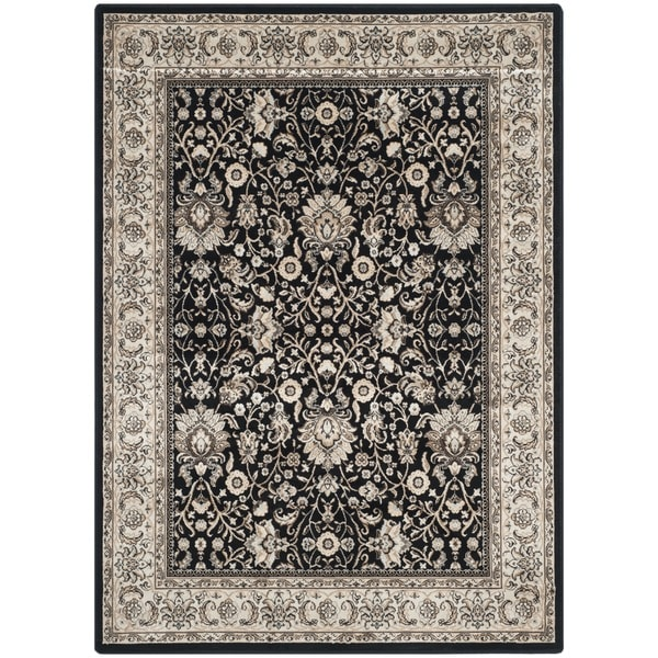 Safavieh Persian Garden Black/ Ivory Viscose Rug (8' x 11')