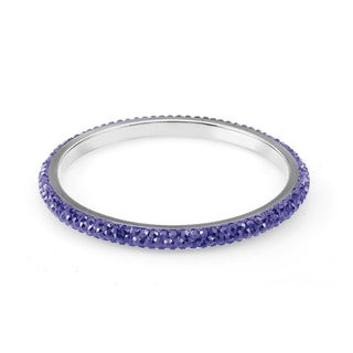 Sterling Silverplated Royal Blue Crystal Bangle