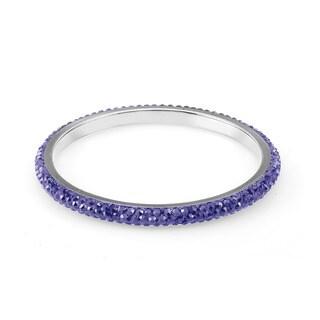 Sterling Silverplated Royal Blue Crystal Bangle