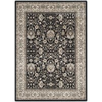 Safavieh Persian Garden Black/ Ivory Viscose Rug - 5'1 x 7'7