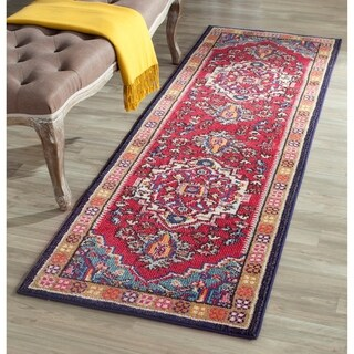 Safavieh Monaco Oriental Bohemian Red/ Turquoise Rug (2'2 x 10')