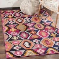 Safavieh Monaco Bohemian Multicolored Rug - RED - 4' x 5'7