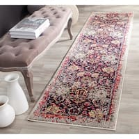 "Safavieh Monaco Vintage Abstract Grey / Multi Distressed Rug - 2'2"" x 10'"