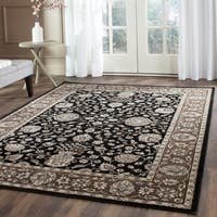 Safavieh Persian Garden Black/ Red Viscose Rug - 8' x 11'