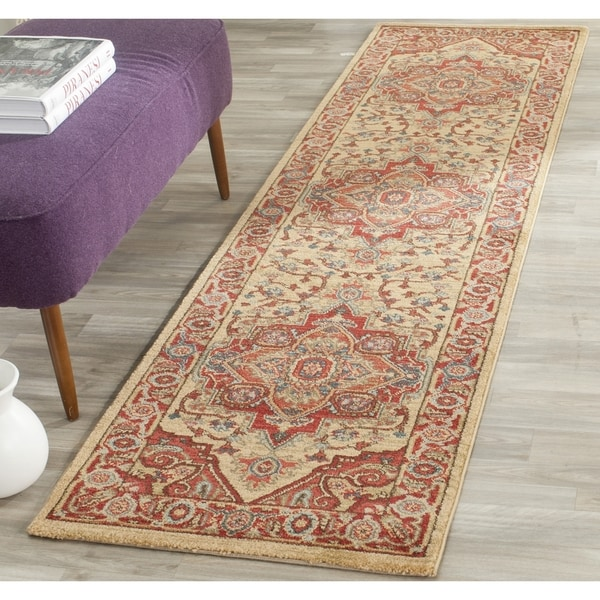 Safavieh Mahal Traditional Grandeur Red/ Natural Rug (2'2 x 10')