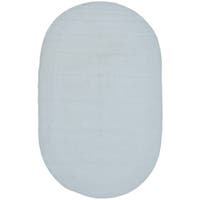 Safavieh Hand-Woven Braided Light Blue Cotton Rug - 9' x 12' oval