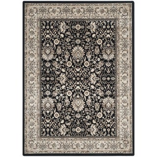 Safavieh Persian Garden Black/ Ivory Viscose Rug (4' x 5'7)