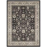 Safavieh Persian Garden Black/ Ivory Viscose Rug - 4' x 5'7