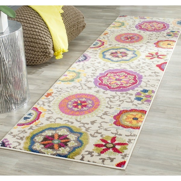 Safavieh Monaco Floral Ivory / Multicolored Runner - 2'2 x 10'