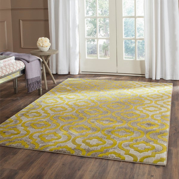 Safavieh Porcello Contemporary Moroccan Light Grey/ Green Rug - 8'2 x 11'
