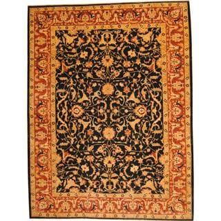 Herat Oriental Afghan Hand-knotted Vegetable Dye Ziegler Wool Rug (10'3 x 13'6)