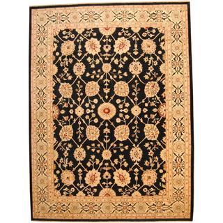 Herat Oriental Afghan Hand-knotted Vegetable Dye Oushak Wool Rug (10'4 x 13'9)
