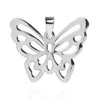 Handmade Exquisite See Thru Butterfly .925 Silver Pendant (Thailand)