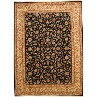 Herat Oriental Indo Hand-knotted Wool/ Silk Tabriz Wool Rug (10' x 14')