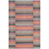 Safavieh Hand-Woven Striped Kilim Rust Wool Rug - 8' x 10'