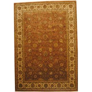 Herat Oriental Indo Hand-knotted Vegetable Dye Ziegler Wool Rug (10' x 14'4)