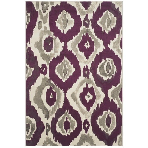 Safavieh Porcello Abstract Ogee Ivory/ Purple Rug - 8'2 x 11'