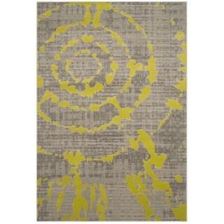 Safavieh Porcello Abstract Contemporary Light Grey/ Green Rug (5'2 x 7'6)