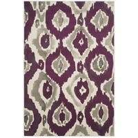 "Safavieh Porcello Abstract Ogee Ivory/ Purple Rug - 5'2"" x 7'6"""