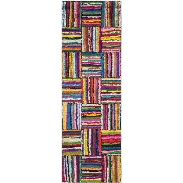 Safavieh Handmade Nantucket Modern Abstract Multicolored Cotton Runner Rug - 2'3 x 11'