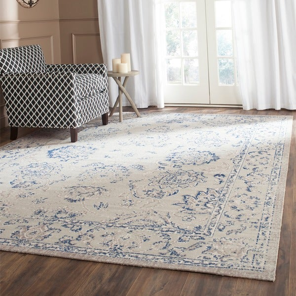 Safavieh Patina Grey/ Blue Rug (5'1 x 7'6)