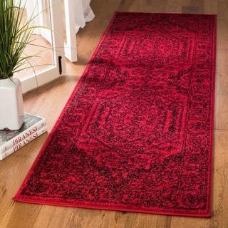 Safavieh Adirondack Vintage Red/ Black Runner Rug (2' 6 x 12')