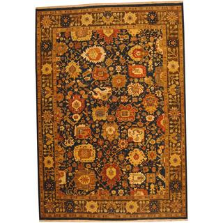 Herat Oriental Indo Hand-knotted Vegetable Dye Oushak Wool Rug (9'7 x 14')