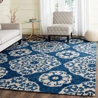 Safavieh Handmade Roslyn Blue/ Ivory Wool Rug - 8' x 10'