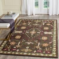Safavieh Handmade Roslyn Sage/ Ivory Wool Rug - 8' x 10'