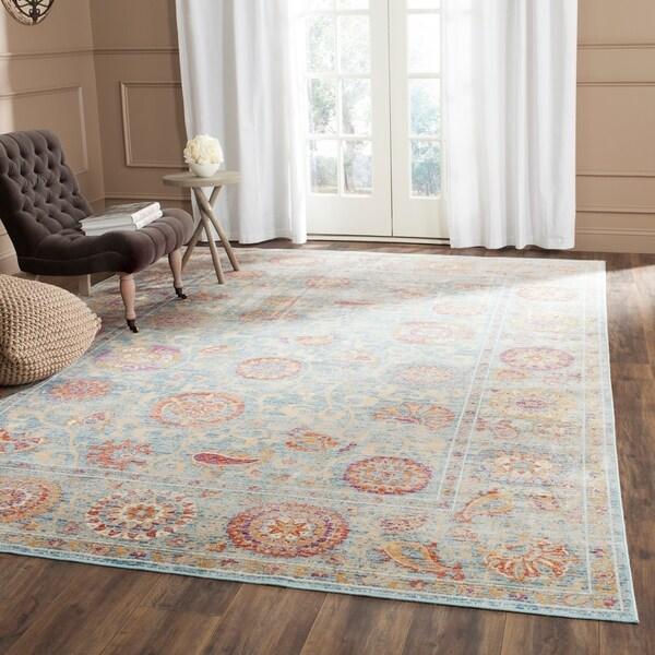 Shop safavieh sevilla light blue multi viscose rug 8 39 x - Factory sofas sevilla ...