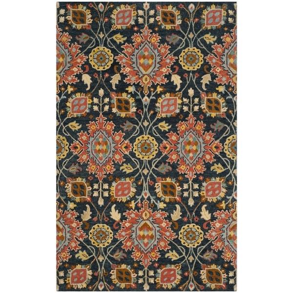 Safavieh Handmade Roslyn Navy/ Multi Wool Rug - 8' x 10'
