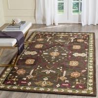 Safavieh Handmade Roslyn Sage/ Ivory Wool Rug - 5' x 8'
