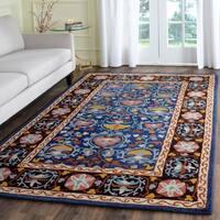 Safavieh Handmade Roslyn Blue/ Multi Wool Rug (5' x 8')