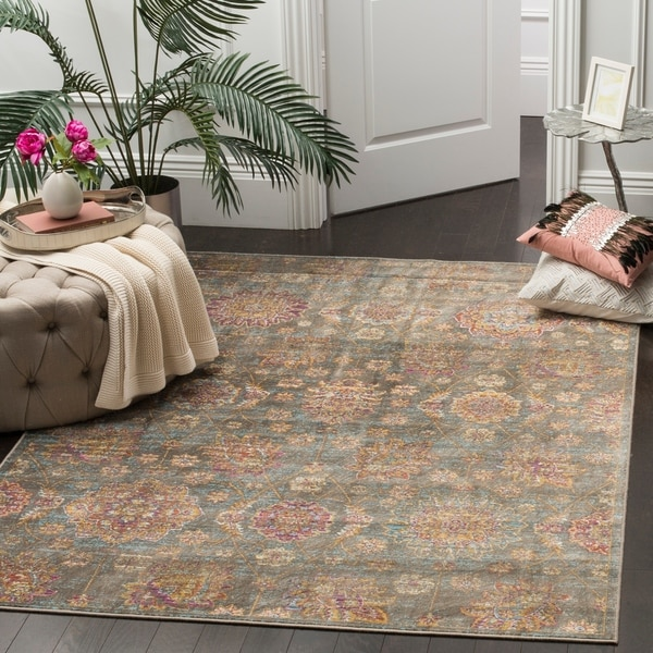 Safavieh Sevilla Grey/ Multi Viscose Rug - 8' x 11'