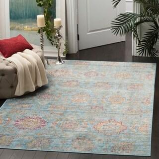 Safavieh Sevilla Blue/ Multi Viscose Rug (8' x 11')