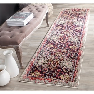 Safavieh Monaco Vintage Abstract Grey / Multi Distressed Rug (2'2 x 12')