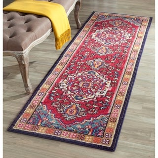 Safavieh Monaco Red/ Turquoise Rug (2'2 x 12')