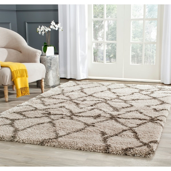 Safavieh Belize Shag Taupe/ Grey Moroccan Area Rug - 8' x 10'