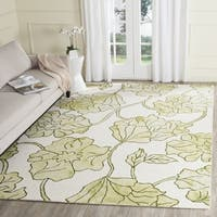 Safavieh Handmade Dip Dye Watercolor Vintage Ivory/ Light Green Wool Rug - 5' x 8'