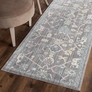 Safavieh Valencia Mauve Distressed Silky Polyester Rug (2'3 x 8')