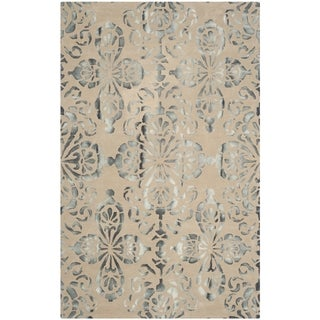 Safavieh Handmade Dip Dye Watercolor Vintage Camel/ Grey Wool Rug (4' x 6')