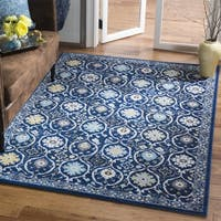 "Safavieh Evoke Vintage Royal Blue/ Ivory Distressed Rug - 5'1"" x 7'6"""