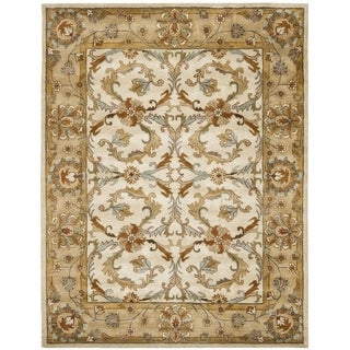 Safavieh Handmade Heritage Timeless Traditional Beige/ Gold Wool Rug (9' x 12')
