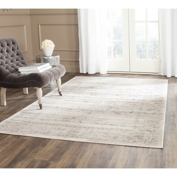 Safavieh Vintage Oriental Light Grey Ivory Distressed Rug