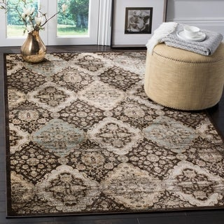 Safavieh Vintage Black/ Light Blue Distressed Rug (5'1 x 7'7)