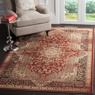 Safavieh Vintage Oriental Rust/ Black Distressed Rug (5'1 x 7'7)
