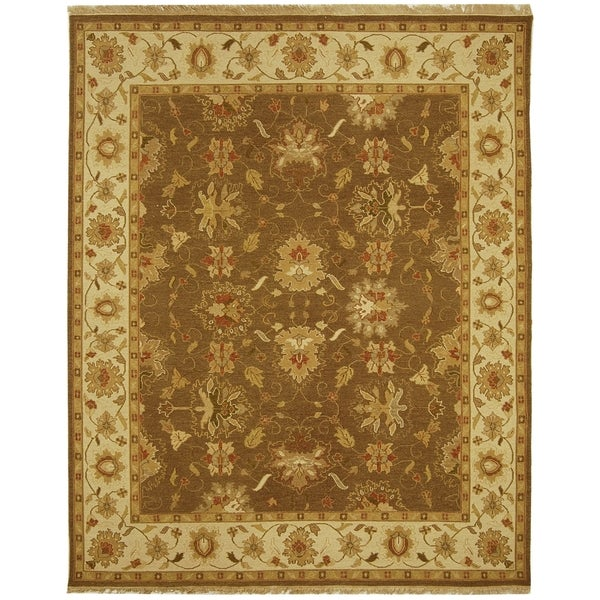 Safavieh Hand-Woven Sumak Brown/ Ivory Wool Rug - 10' x 14'